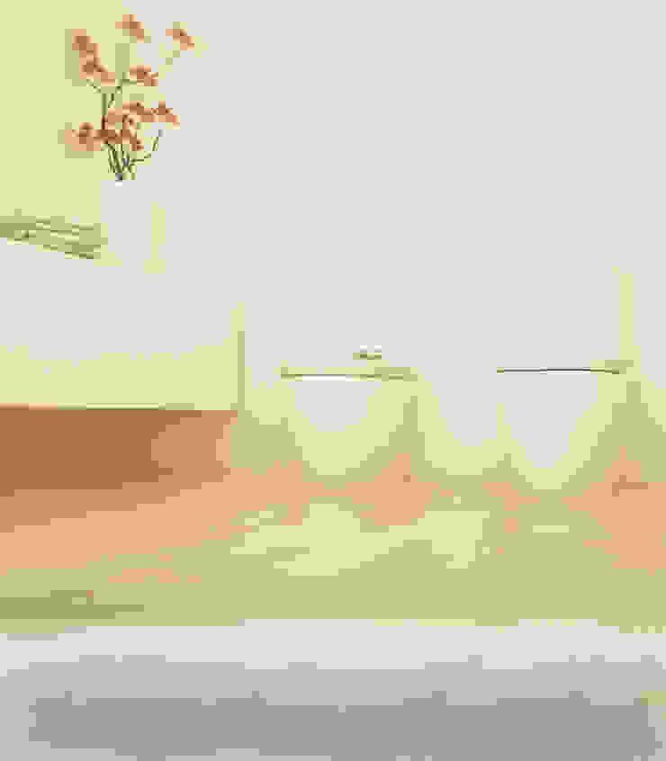Projekt Wnętrza: Łazienka Harmonia Minimalistyczna łazienka od Akuratnie Minimalistyczny