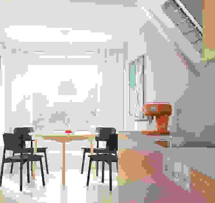 Projekt Wnętrza: Kuchnia z Widokiem na Sad Minimalistyczna kuchnia od Akuratnie Minimalistyczny