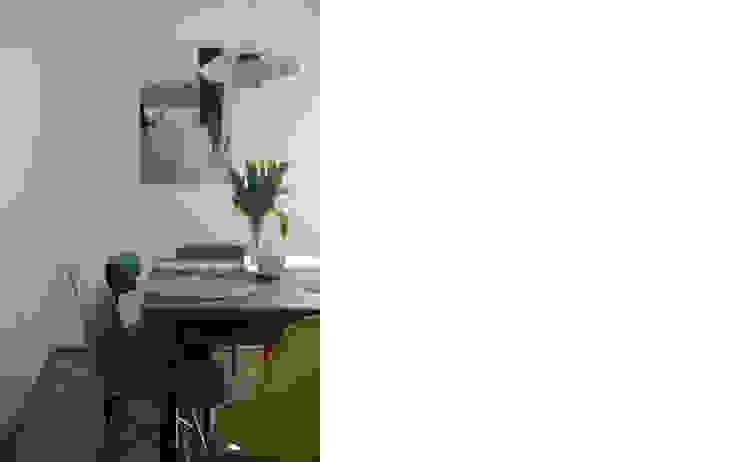 niewielkie mieszkanie w sercu Saskiej Kępy Skandynawska jadalnia od JJJASKOLA ARCHITEKCI Skandynawski