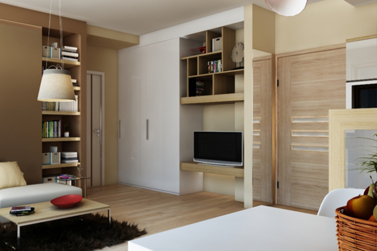 APARTAMENTO EN LA MONTAÑA Salones de estilo minimalista de Agami Design Minimalista