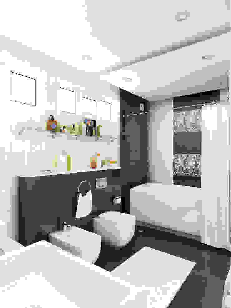 Уединение от пресыщения Ванная комната в эклектичном стиле от Дизайн студия Александра Скирды ВЕРСАЛЬПРОЕКТ Эклектичный