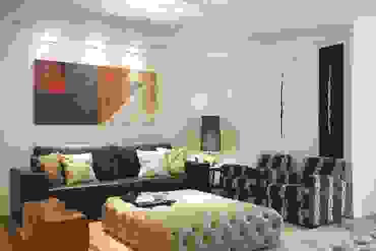 Apartamento Barra da Tijuca Salas de estar modernas por Cris Moura Arquitetura Moderno