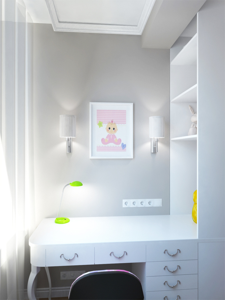 Квартира с акцентом Детские комната в эклектичном стиле от Дизайн студия Александра Скирды ВЕРСАЛЬПРОЕКТ Эклектичный