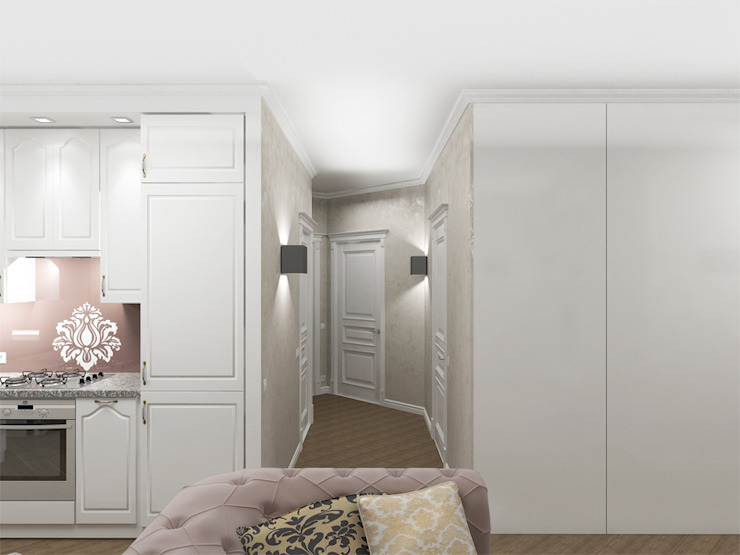 Квартира с акцентом Коридор, прихожая и лестница в классическом стиле от Дизайн студия Александра Скирды ВЕРСАЛЬПРОЕКТ Классический