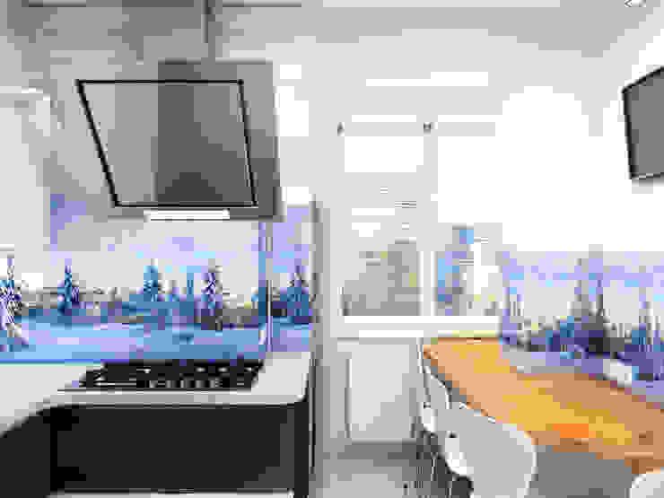 Eclectic style kitchen by Дизайн студия Александра Скирды ВЕРСАЛЬПРОЕКТ Eclectic