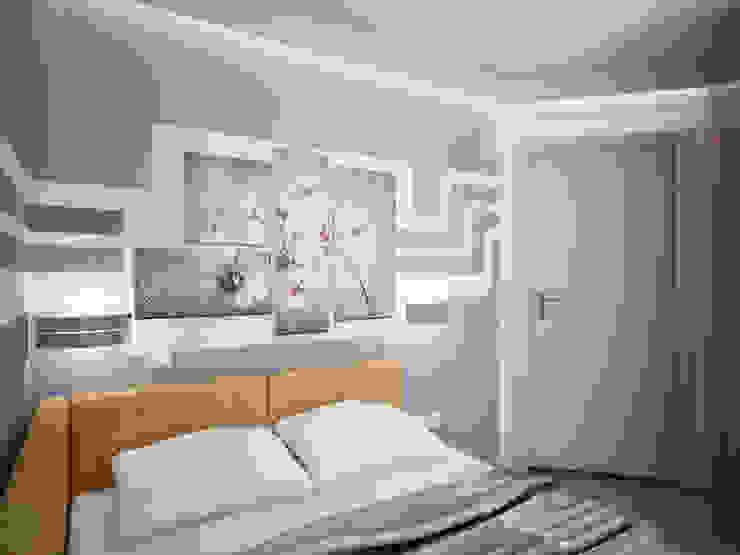 에클레틱 침실 by Дизайн студия Александра Скирды ВЕРСАЛЬПРОЕКТ 에클레틱 (Eclectic)
