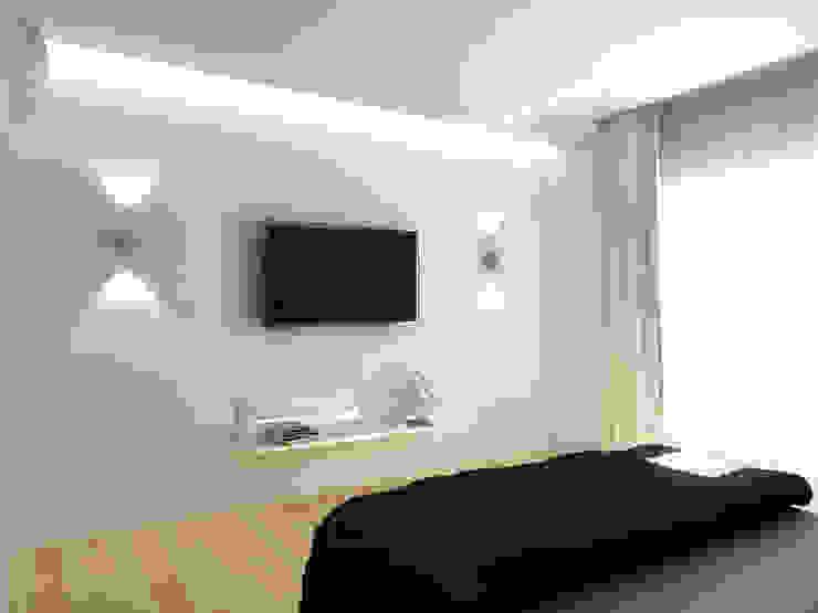 Чистота Спальня в стиле минимализм от Дизайн студия Александра Скирды ВЕРСАЛЬПРОЕКТ Минимализм