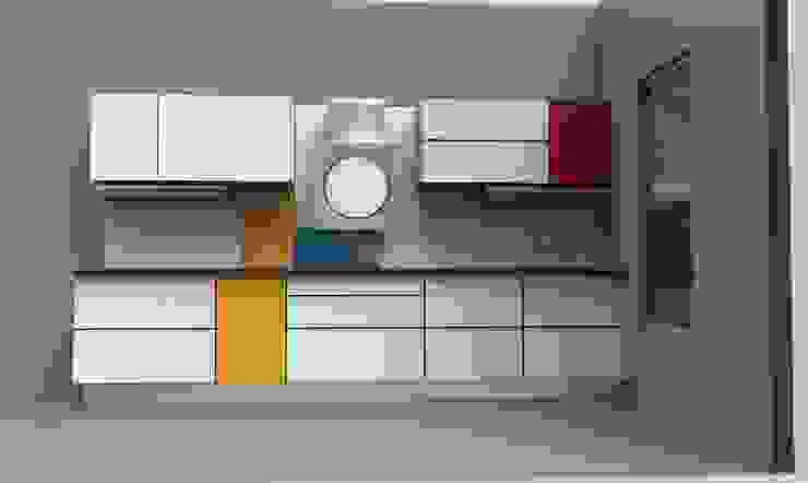 NEO-PLASTICISM AS SEEN BY PIET MONDRIAN Modern kitchen by ANJALI SHAH Modern