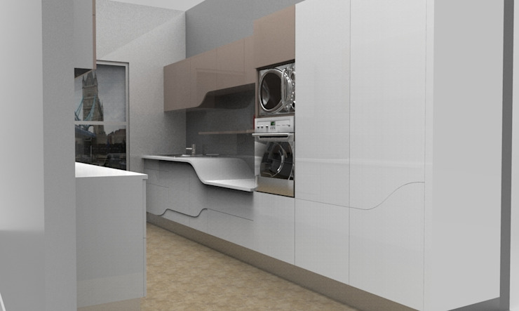Organic . Modern . Warm 現代廚房設計點子、靈感&圖片 根據 ANJALI SHAH 現代風