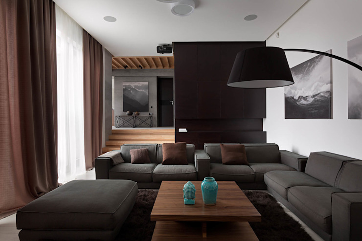 Two Levels Modern Oturma Odası NOTT DESIGN STUDIO Modern