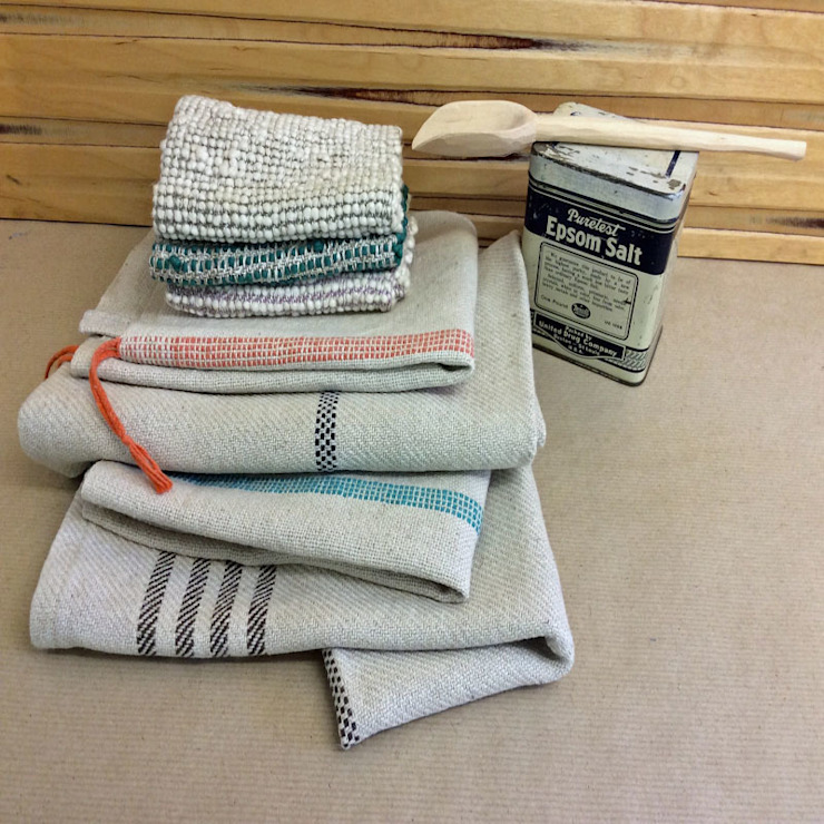 Hand Woven Towels: rustic  by Rural Retro, Rustic