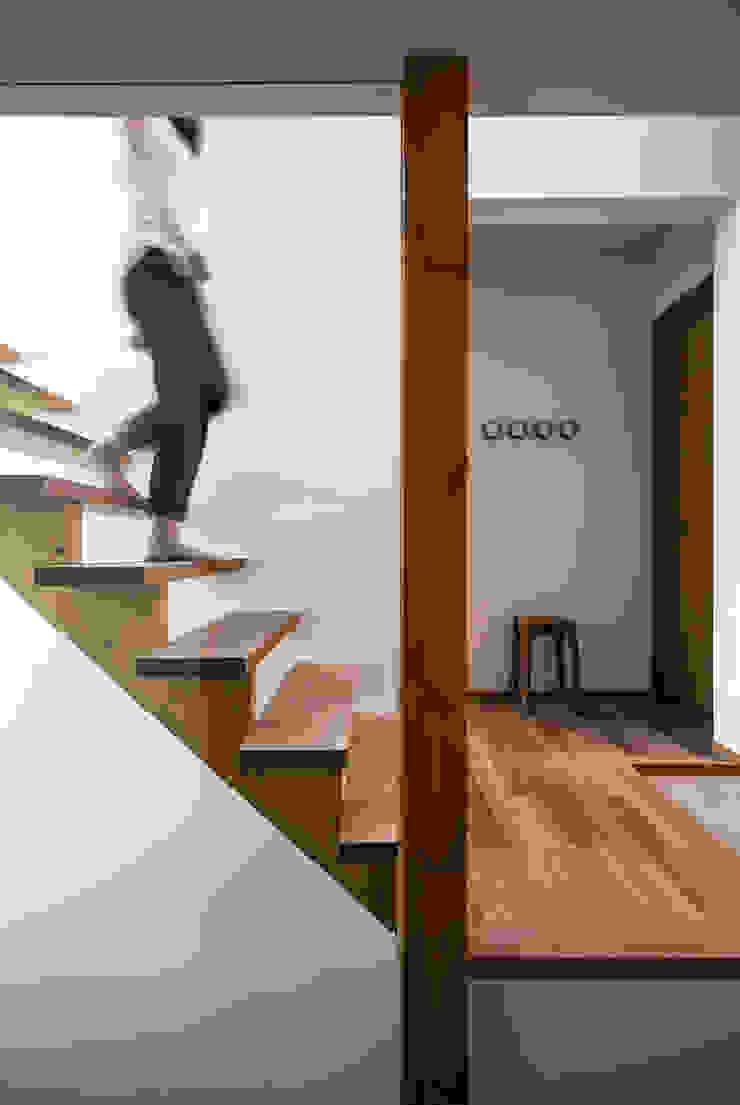 クレバスハウス シースルー階段 モダンスタイルの 玄関&廊下&階段 の 株式会社seki.design モダン