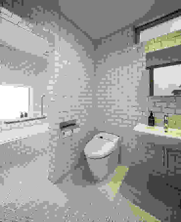 クレバスハウス バスルーム モダンスタイルの お風呂 の 株式会社seki.design モダン