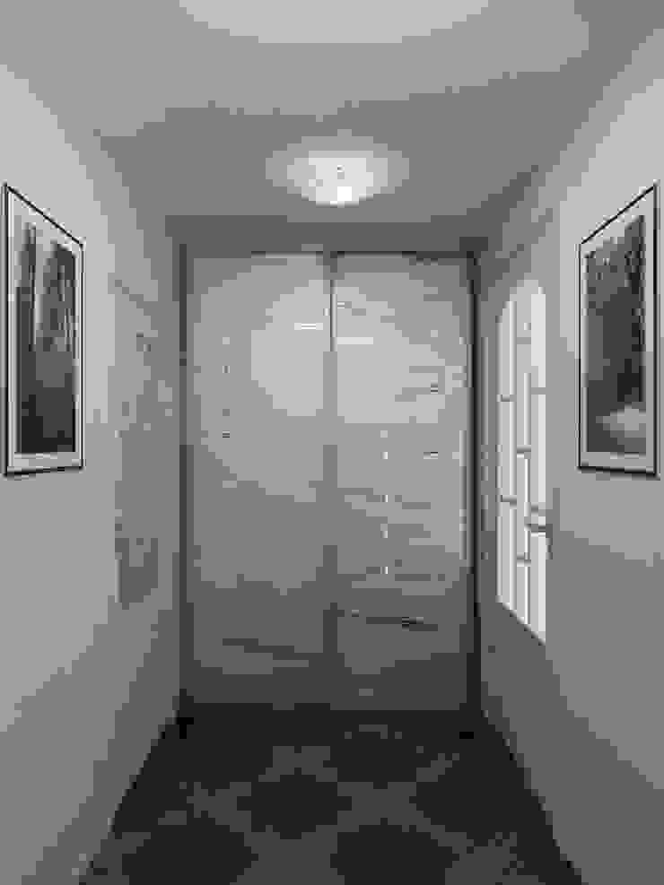 Преображение дома 1961 года Коридор, прихожая и лестница в эклектичном стиле от Дизайн студия Александра Скирды ВЕРСАЛЬПРОЕКТ Эклектичный
