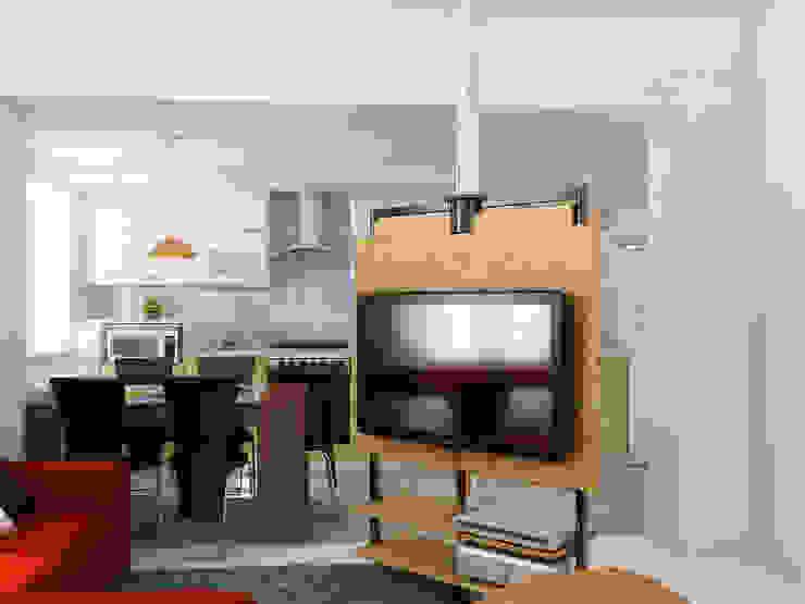 Преображение дома 1961 года Гостиные в эклектичном стиле от Дизайн студия Александра Скирды ВЕРСАЛЬПРОЕКТ Эклектичный