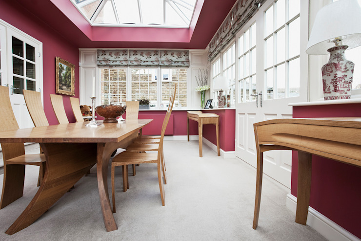 Dining Furniture designed for an English country manor house Modern dining room by Daniel Lacey Design & Furniture Modern