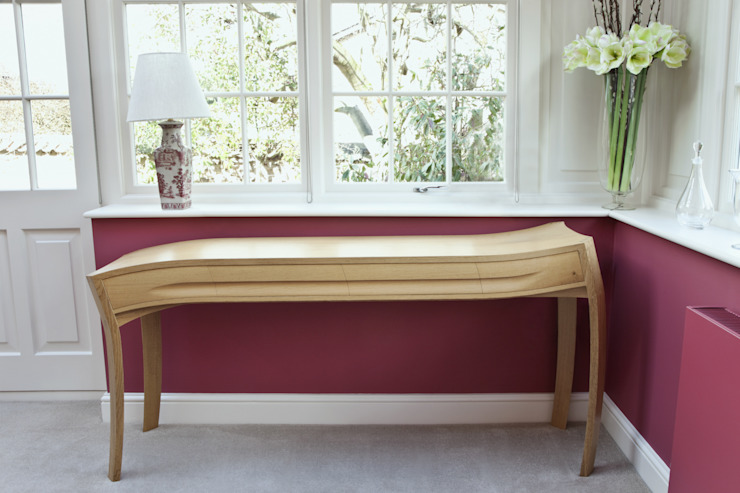 One of the matching pair of console tables: modern  by Daniel Lacey Design & Furniture, Modern