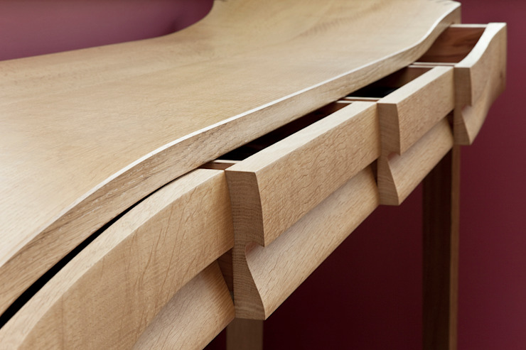Console tables - with drawers open: modern  by Daniel Lacey Design & Furniture, Modern