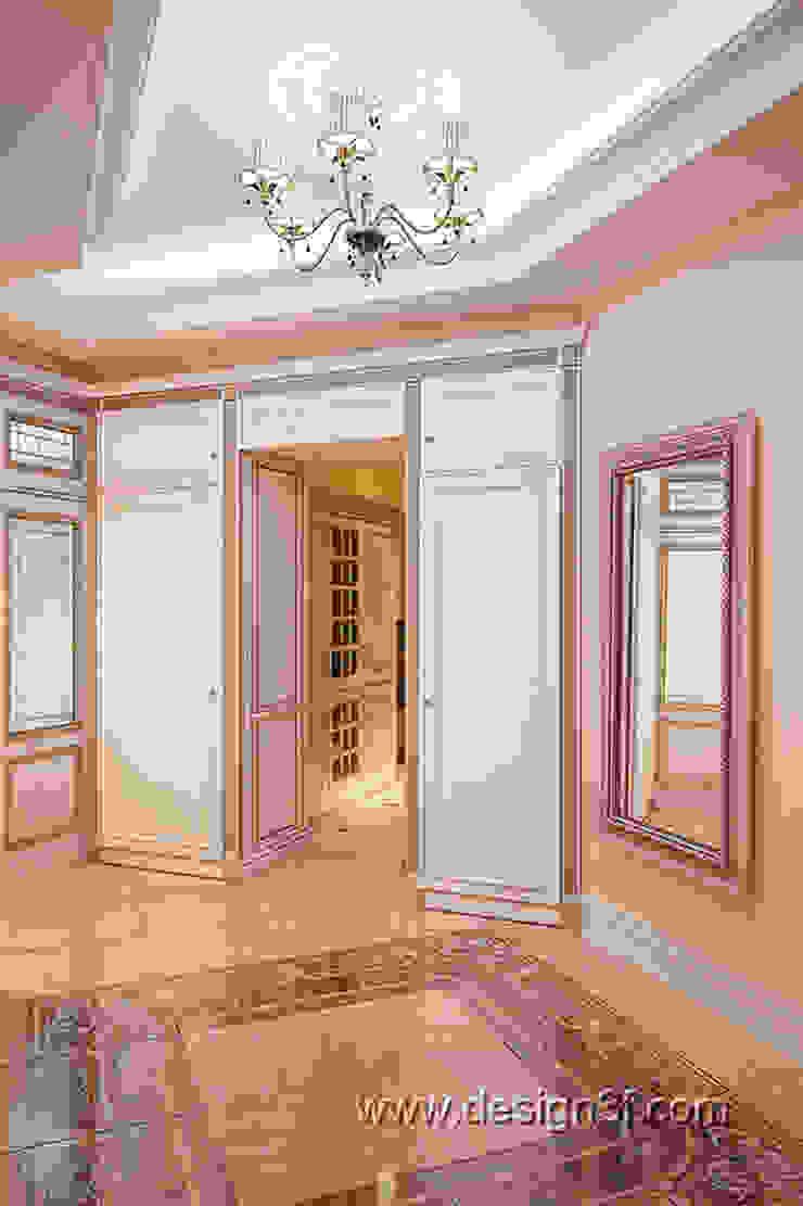 холл Коридор, прихожая и лестница в классическом стиле от студия Design3F Классический