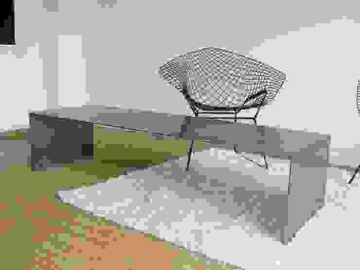 table basse par metal brut Industriel