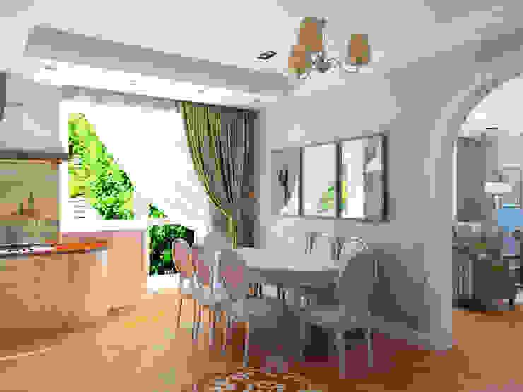 Белая гора Кухня в классическом стиле от Дизайн студия Александра Скирды ВЕРСАЛЬПРОЕКТ Классический