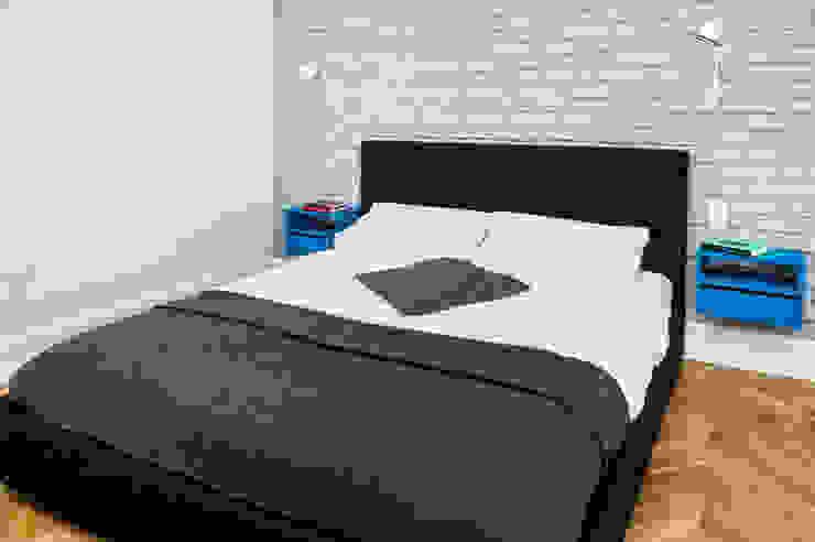 Francja na Powiślu Skandynawska sypialnia od EG Projekt Skandynawski