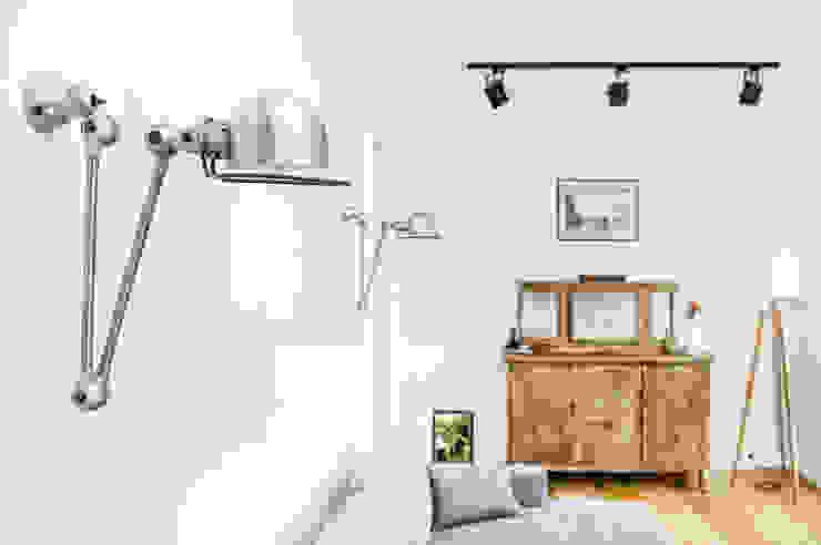 Francja na Powiślu Skandynawski salon od EG Projekt Skandynawski