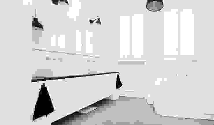 Francja na Powiślu: styl , w kategorii Łazienka zaprojektowany przez EG Projekt,Skandynawski