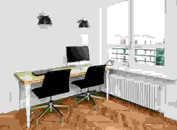 Francja na Powiślu: styl , w kategorii Domowe biuro i gabinet zaprojektowany przez EG Projekt,Skandynawski