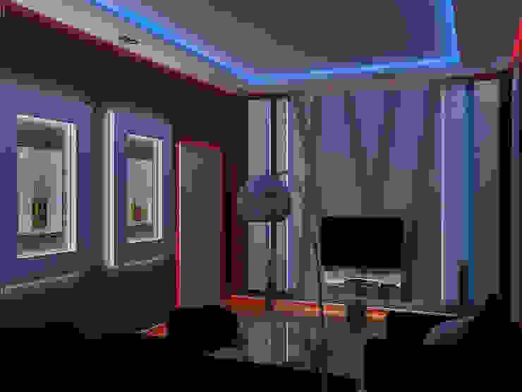 День и ночь Гостиные в эклектичном стиле от Дизайн студия Александра Скирды ВЕРСАЛЬПРОЕКТ Эклектичный