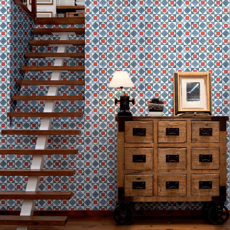 Tiles 'Digitally Printed' Wallpaper Collection por Paper Moon Rústico