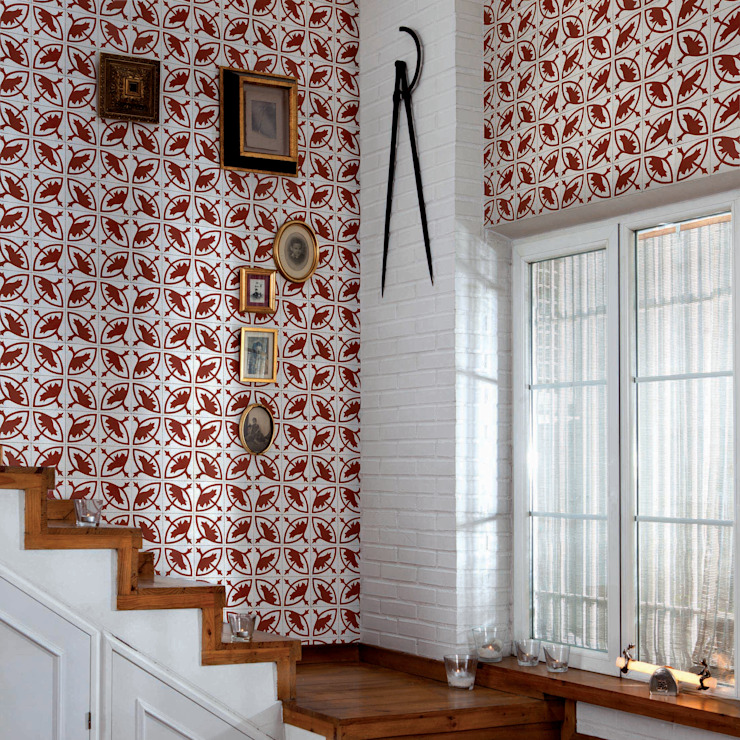 Tiles 'Digitally Printed' Wallpaper Collection di Paper Moon Rustico