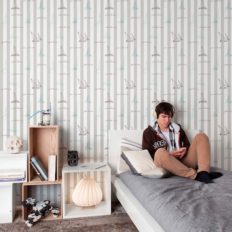 Stars & Stripes Wallpaper Collection: modern  by Paper Moon, Modern