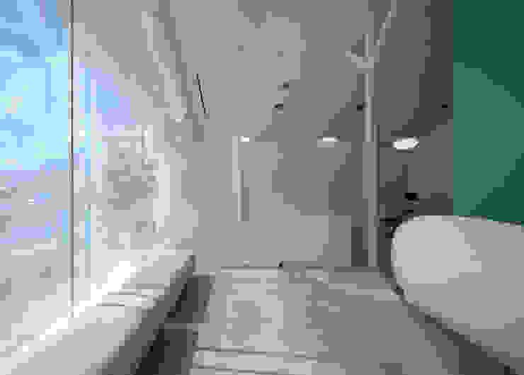 廣瀬歯科診療所 待合スペース 北欧風病院 の eleven nine interior design office 北欧