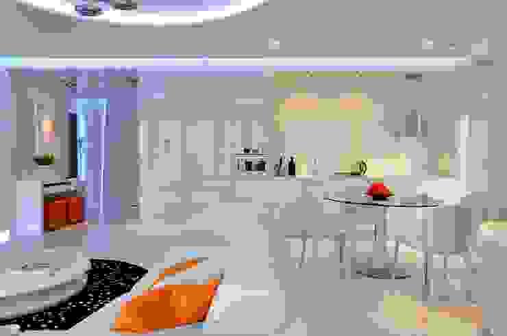 Sea Towers Apartment: styl , w kategorii Kuchnia zaprojektowany przez Minsterstwo Spraw We Wnętrzach,Minimalistyczny