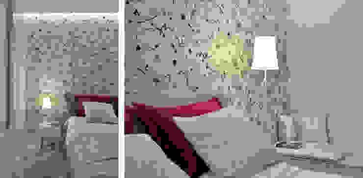 Sea Towers Apartment Minimalistyczna sypialnia od Minsterstwo Spraw We Wnętrzach Minimalistyczny