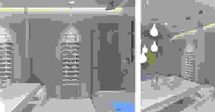 Sea Towers Apartment: styl , w kategorii Łazienka zaprojektowany przez Minsterstwo Spraw We Wnętrzach,Minimalistyczny