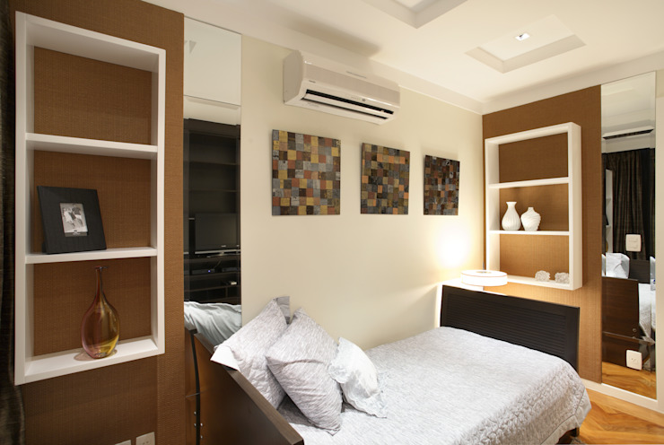 Apartamento Barra da Tijuca Quartos modernos por Cris Moura Arquitetura Moderno