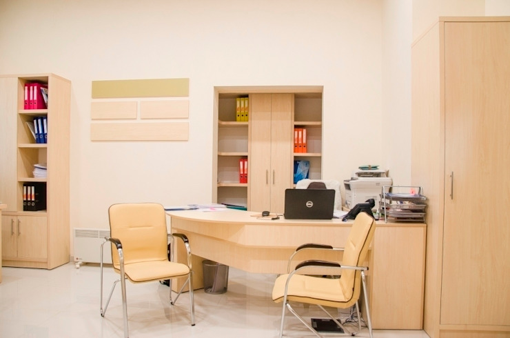3-я очередь офиса компании УКРБУД Девелопмент Офисные помещения в стиле минимализм от UKRINTEL Минимализм