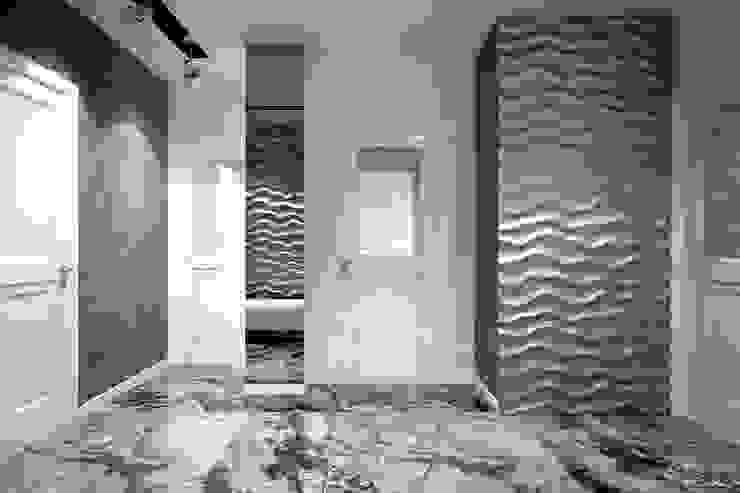 Corredores, halls e escadas modernos por Студия интерьерного дизайна happy.design Moderno