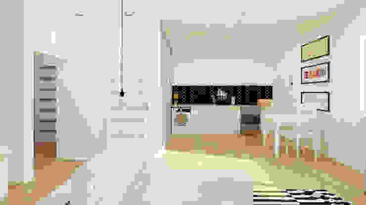 Nhà bếp phong cách tối giản bởi Ale design Grzegorz Grzywacz Tối giản