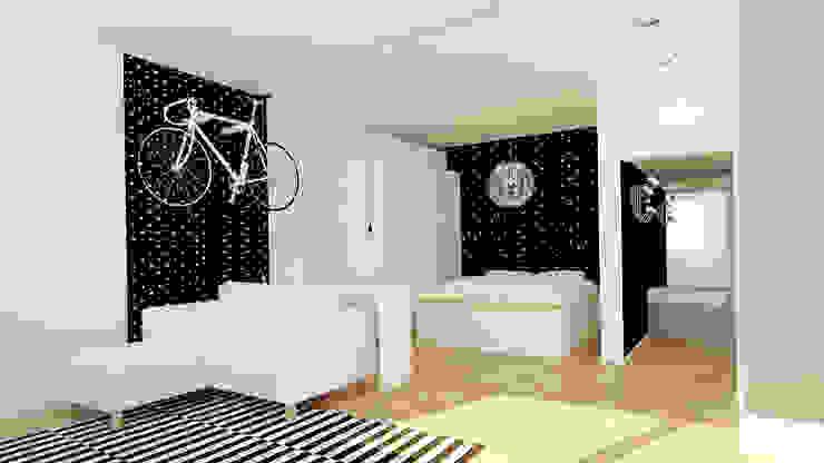 Phòng ngủ phong cách tối giản bởi Ale design Grzegorz Grzywacz Tối giản
