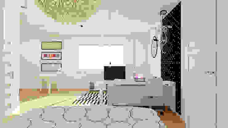 Phòng khách phong cách Bắc Âu bởi Ale design Grzegorz Grzywacz Bắc Âu