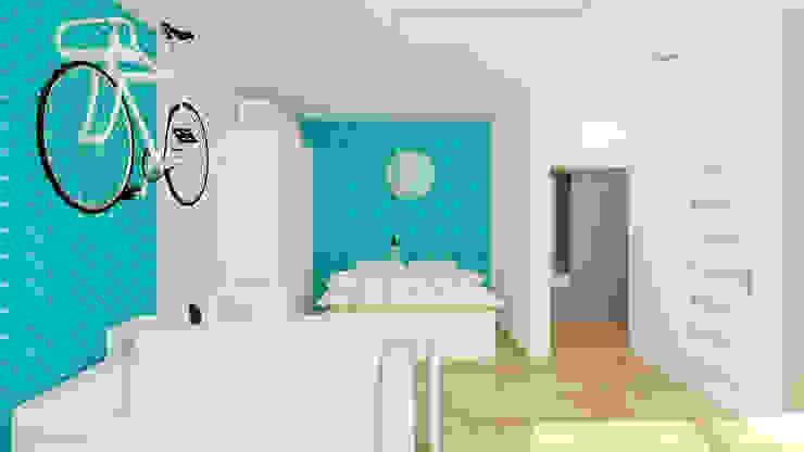 Scandinavian style bedroom by Ale design Grzegorz Grzywacz Scandinavian
