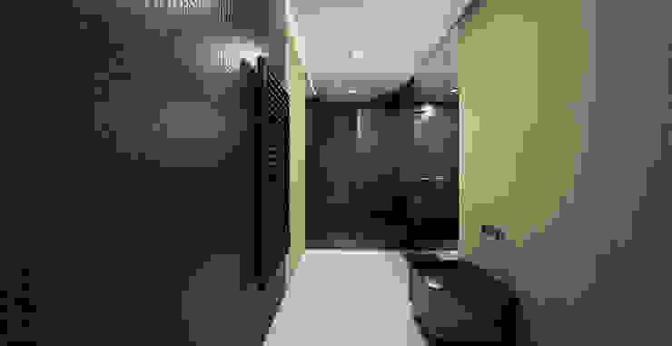 The Wall Minimalistyczna łazienka od Mess Architects Minimalistyczny