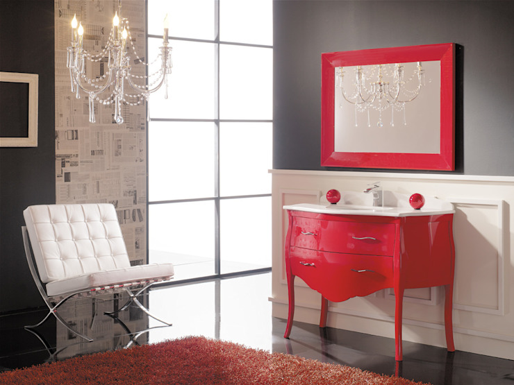 Mueble de baño modelo París rojo brillo de Baños Online Clásico