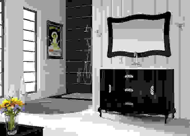 Mueble de baño Venezia 150 cms negro brillo de Baños Online Clásico