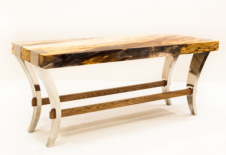 'Japan' console table: industrial  by Neil Scott Furniture Limited, Industrial