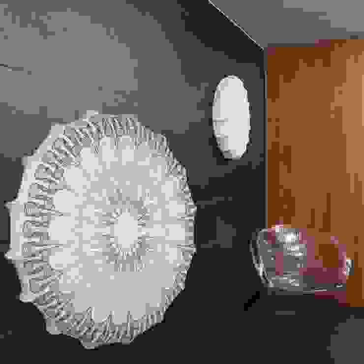 Plafon Mandala grey (duży) od Lumiforma Industrialny