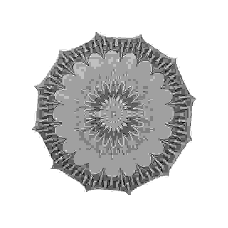 Plafon Mandala grey (mały) od Lumiforma Minimalistyczny